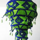 Indian designer handmade cotton Applique hanging lamp #7