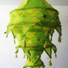 Indian designer handmade cotton Applique hanging lamp #8