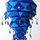 Indian designer handmade cotton Applique hanging lamp #10