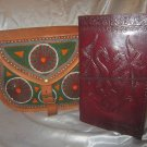 Combo Pack of leather journal and leather bag. For personal use and gifts. Pack #5