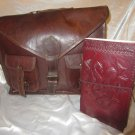 Combo Pack of leather journal and leather bag. For personal use and gifts. Pack #6