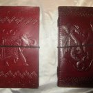 Combo pack of Real Leather handmade Sketchbook Scrapbook Notebook Diary Journal. Pack #24