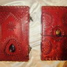 Combo pack of Real Leather handmade Sketchbook Scrapbook Notebook Diary Journal. Pack #25