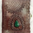 Real Leather handmade Sketchbook Scrapbook Notebook Diary Journal #45
