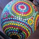 DECORATIVE LAMP/ Ceramic and glass Lamp/ Hanging lamp/ Ceiling Lamp/ Festival/ Christmas Lamp. #9