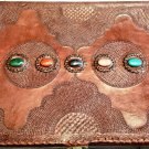 Real Leather handmade Sketchbook Scrapbook Notebook Diary Journal #58