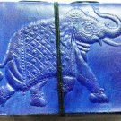 Leather diary embossed with elephant and lace lock #62
