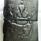 Handmade leather diary with lord Ganesha embossed #65