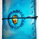 Real Leather handmade Sketchbook Scrapbook Notebook Diary Journal #71