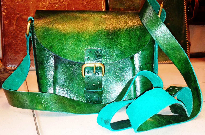 Handmade Leather Satchel/Messenger/Cross body ladies Bag.