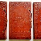 Pack of Three Real Leather handmade Sketchbook Scrapbook Notebook Diary Journal. Pack #26