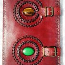 Real Leather handmade Sketchbook Scrapbook Notebook Diary Journal #76