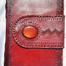Real Leather handmade Sketchbook Scrapbook Notebook Diary Journal #77