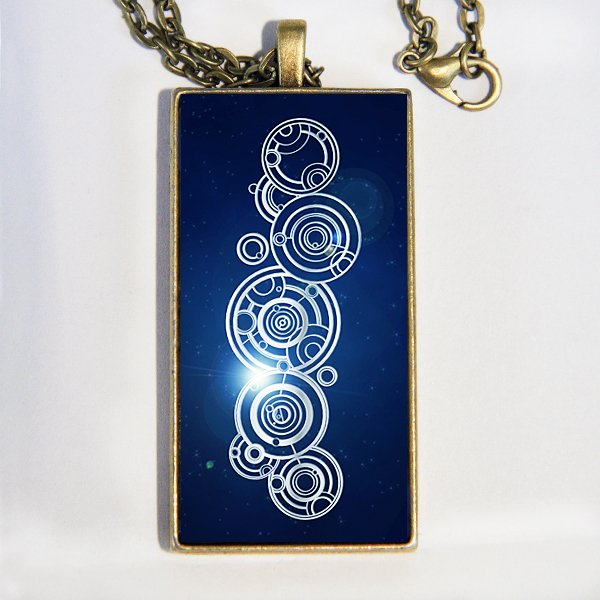 Doctor Who, The Doctor's Name, in Gallifreyan necklace