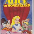 ALICE IN WONDERLAND Walt Disney's Black Diamond Edition VHS Clamshell 012257036039