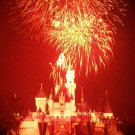 Disneyland 35mm FIREWORKS / SLEEPING BEAUTY CASTLE Souvenir Slide PANA-VUE (Vintage) VP21A1