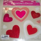 NEW - Gel Heart Window Clings / Valentine's Day Decorations