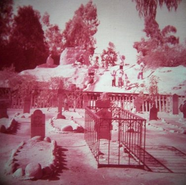 Knott's Berry Farm 35mm BOOT HILL INDIAN MT. Souvenir Slide PANA-VUE (Vintage) S1234 Knotts
