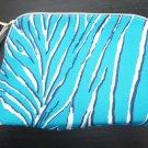 NEW - ESTEE LAUDER Makeup Bag Blue Zebra Animal Print Fox Charm