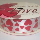 NEW - Metallic HEART RIBBON 3 Yards Valentines Day