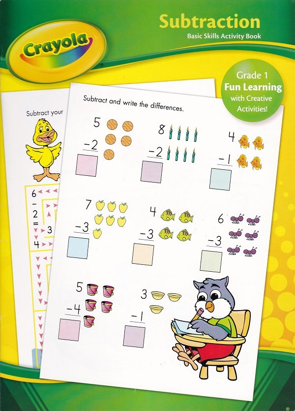 Crayola SUBRTACTION Grade 1 (Workbook)