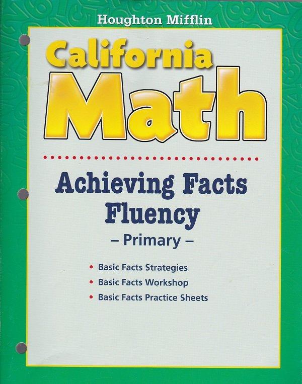 Houghton Mifflin CALIFORNIA MATH Achieving Fact Fluency (Workbook) Math