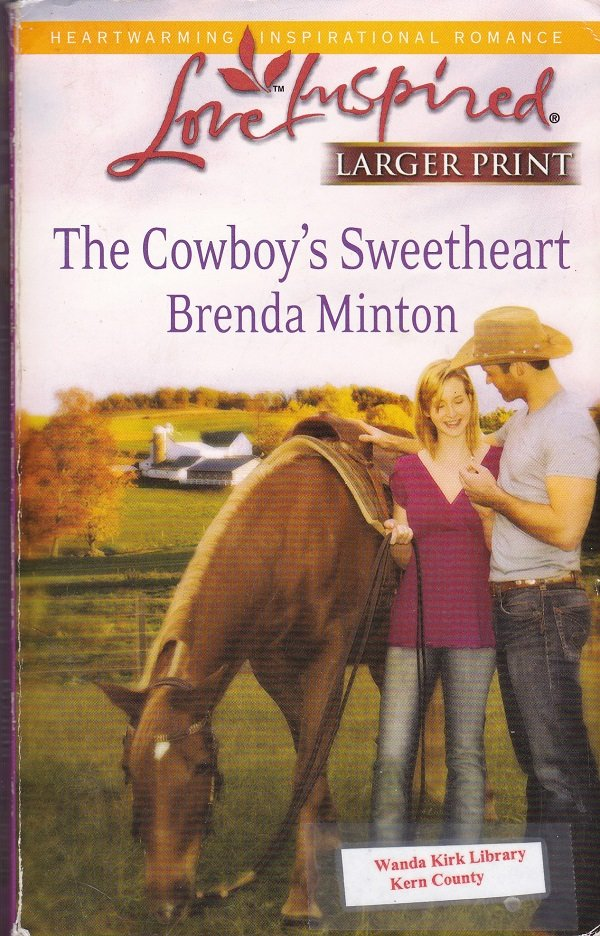 Brenda Minton THE COWBOY'S SWEETHEART The Cowboy Series #6 - PB Larger Print (Acceptable/Readers)