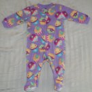 EUC - JOE BOXER Baby Girls 6-9 Months Long Sleeve Footed Sleeper Zip-up