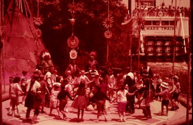 Disneyland 35mm INDIAN DANCE Souvenir Slide PANA-VUE (Vintage) VP40A3