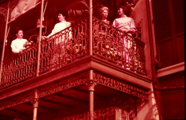 Disneyland 35mm IRON LACE BALCONIES Souvenir Slide PANA-VUE (Vintage) VP703