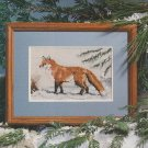 WINTER ON FOXHILL Sampler Cross-Stitch Single Pattern ONLY Fox in Snow FREE SHIPPING