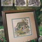 THATCHED COTTAGE Cross-Stitch Single Pattern ONLY Cottage Gardes Series 1 0f 3 FREE SHIPPING
