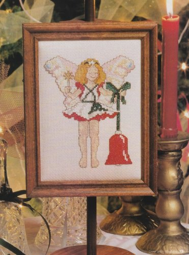 MERRY MAIDEN Cross-Stitch Single Pattern ONLY Christmas Holiday Angel Bell