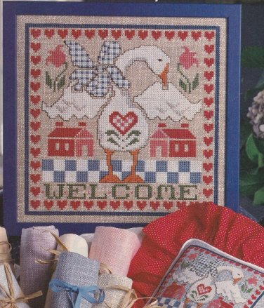 GANDER'S WELCOME Sampler Cross-Stitch Single Pattern ONLY Goose FREE SHIPPING