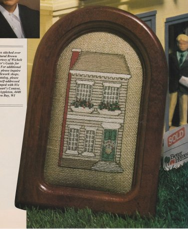 COLONIAL HOUSE Cross-Stitch Single Pattern ONLY House Holiday