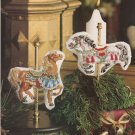 CHRISTMAS CAROUSEL Cross-Stitch Single Pattern ONLY Holiday Horses FREE SHIPPING