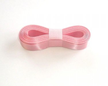 "BABY PINK - 10 Yards X 5/8"" Sealed Edge Satin Ribbon Water Resistant"