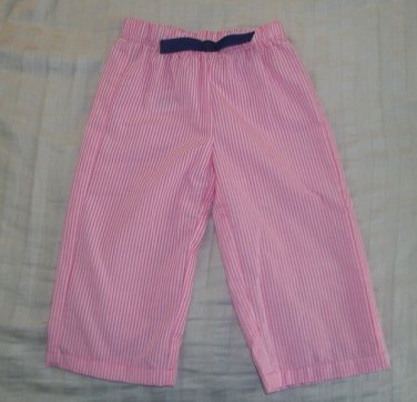 EUC - FADED GLORY Girls Size 2T Pink and White Striped Pants