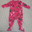 EUC - Baby Girls CARTERS 6 Months Christmas Zip-up Footed Sleeper