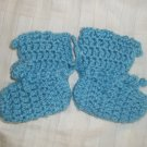 NEW / HANDMADE - Baby Boys Crocheted Booties / Socks Blue