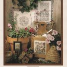 DOWN THE GARDEN PATH Cross-Stitch Pattern Booklet Teri Richards Shepherds Bush FREE SHIPPING