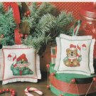 SANTAS HELPERS Cross-Stitch Single Pattern ONLY Christmas Elf Teddy Bear FREE SHIPPING