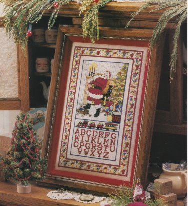 SANTA SAMPLER Cross-Stitch Single Pattern ONLY Christmas Holiday Santa Clause FREE SHIPPING
