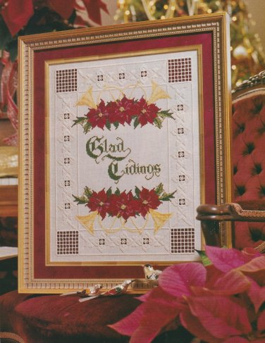GLAD TIDINGS + Bonus HOLLY & MISTLETOE Cross-Stitch Single Pattern ONLY Christmas Holiday