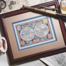 NEW WORLD MAP Cross-Stitch Single Pattern ONLY FREE SHIPPING
