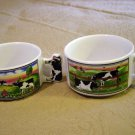 Set of Two Artmark Soup Cups Mugs with Cow Theme TPS-1028