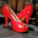 Size 10M Chinese Laundry Women's High Heel Platform Pumps, Sexy Red