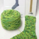 Sock Yarn Knitting Kit With Needles Motley Crew Greens