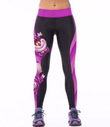 Purple Cheshire Cat leggings
