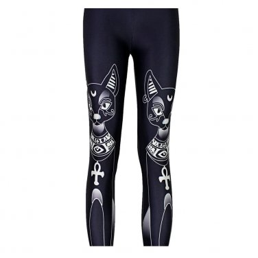 Black cat Egyptian leggings